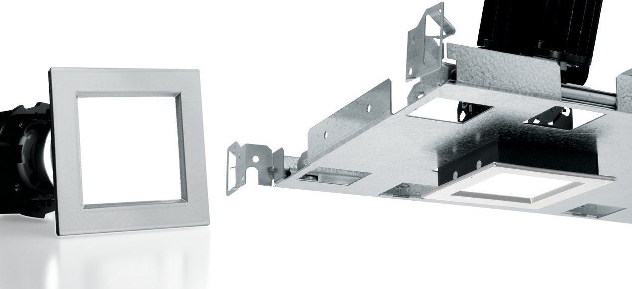 2AS: Achieve the perfect style for any space with the Williams 2 inch square adjustable downlight with adjustable aim from 0 degree to 45 degree tilt and 360 degree rotation with zero-flange trim option for modern ceiling