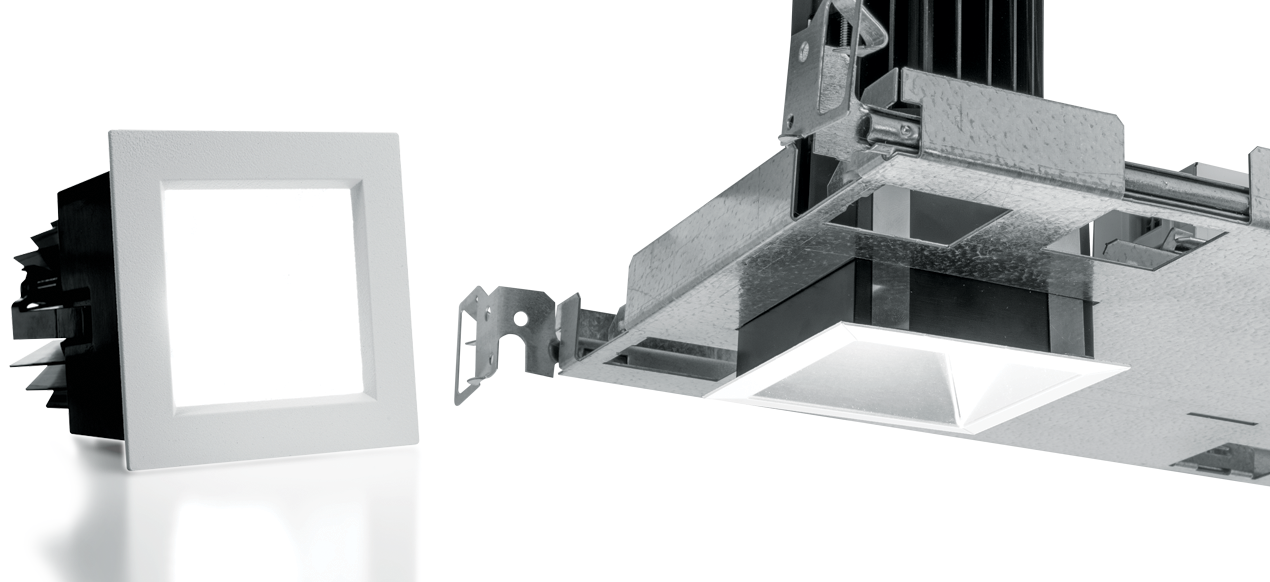 2DS: Architecturally designed, the 2 inch square LED downlight from Williams offers beam angles ranging from 14 degrees spot to 50 degrees wide for tailored performance while the spring clip retention system eliminates trim sag.