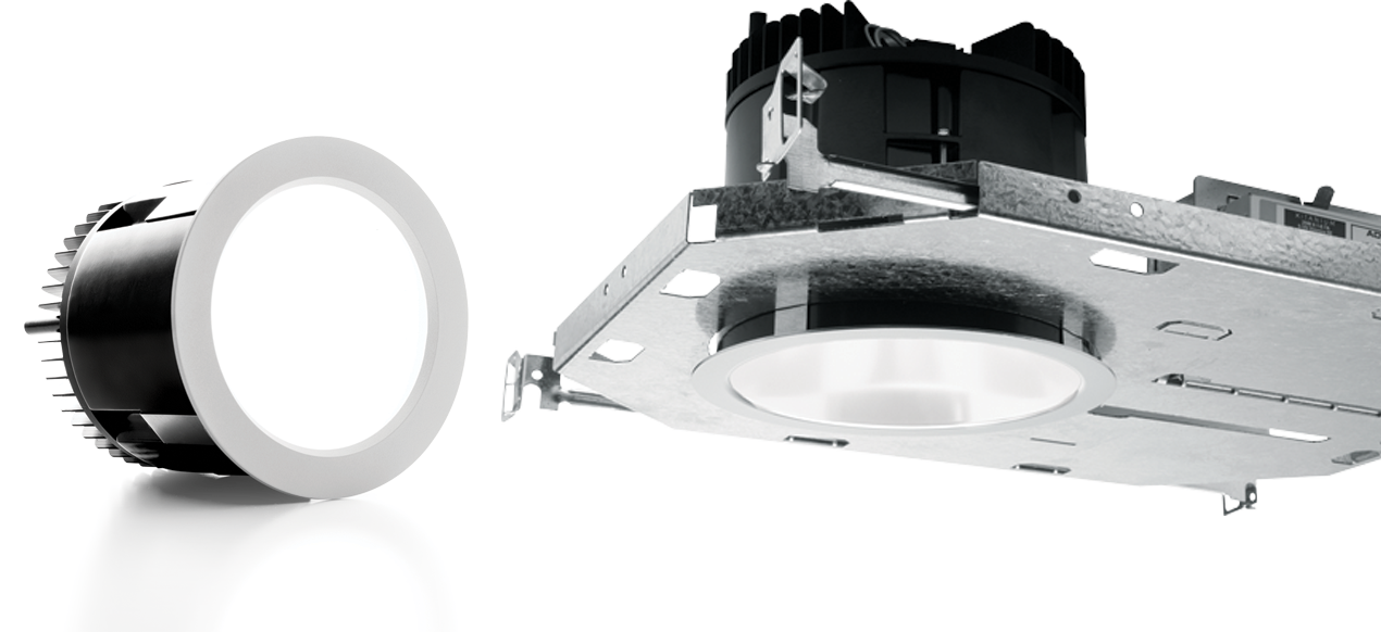 4DR: The modern design of the 4 inch round LED downlight features Williams TrimLock™ reflector retention system and limitless trim combinations to achieve the perfect style for any space.