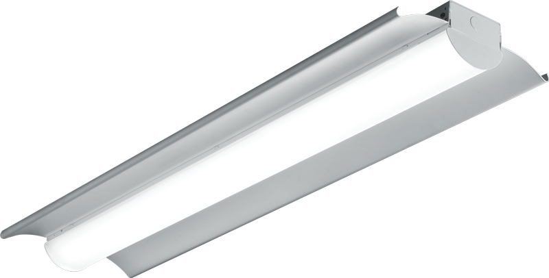80R: For light industrial applications and low to medium mounting heights with diffuse acrylic round lens to enhance uniformity and reduce glare.