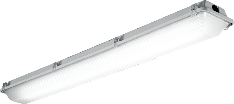 4' – LED with Ribbed High-impact Frosted Acrylic