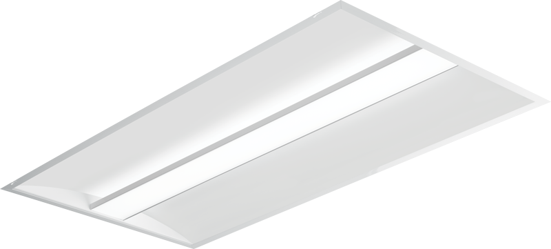 AT3: Architectural LED Troffer - Straight Floating Center