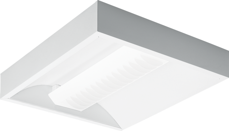 2x2 – White Perforated Round Diffuser with Louver