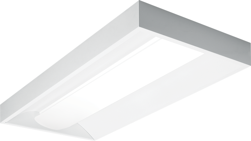 DIS: Available in fluorescent or LED, the surface mounted Direct/Indirect (DIS series) offers a choice of 6 diffuser styles for a more architectural appearance.