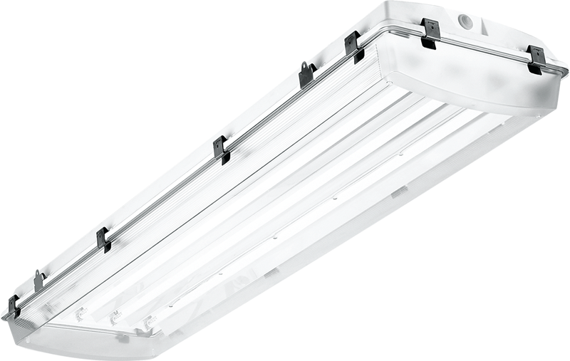 4' – 4-lamp T5 with High-impact Acrylic and Highly Specular Aluminum Reflector