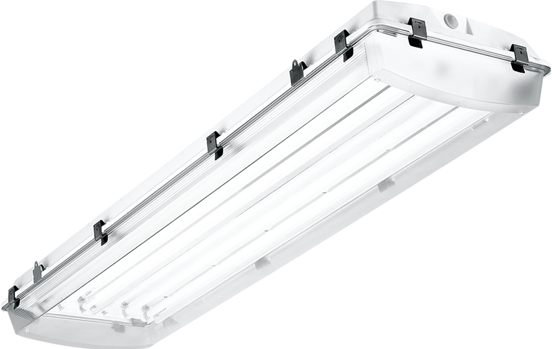 4' – 6-lamp T5 with High-impact Acrylic and Highly Specular Aluminum Reflector
