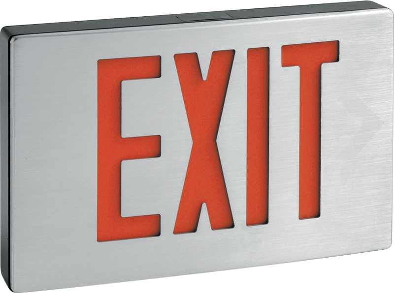 EXIT/CA: Cast Aluminum Exit Sign