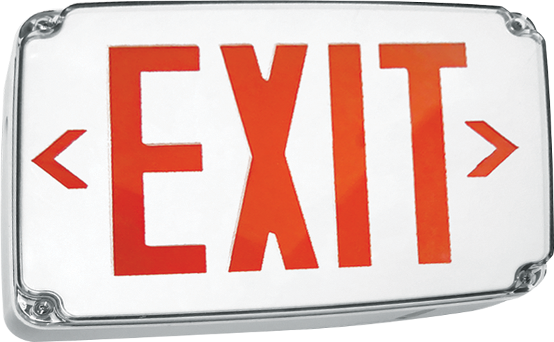 EXIT/WET/CP: Compact Wet Location EXIT Sign