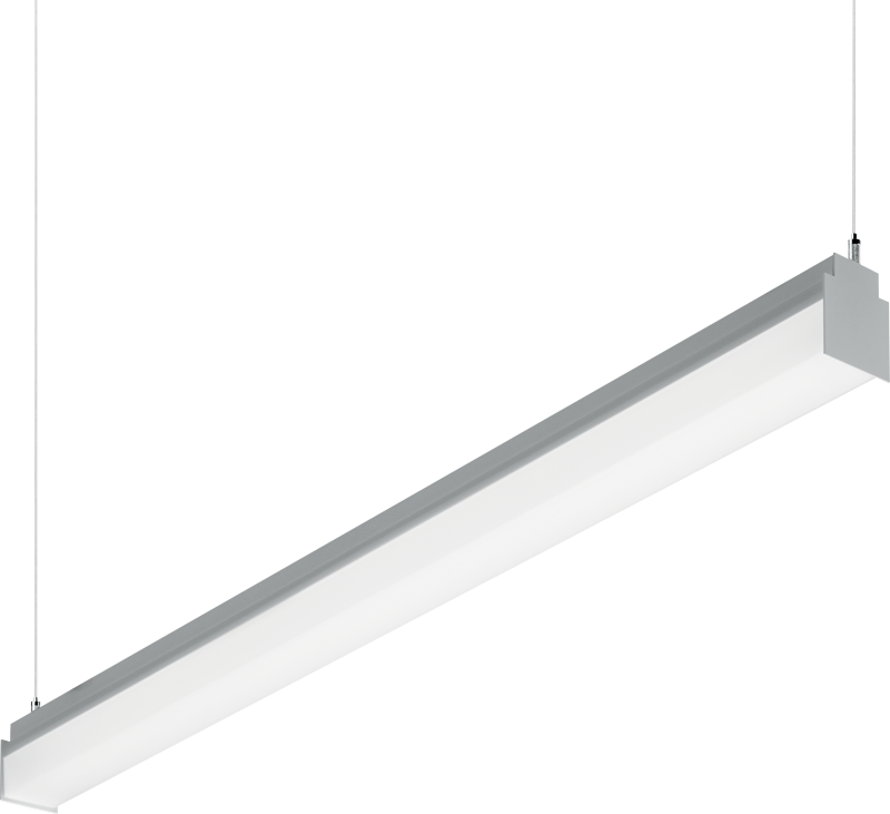 LLM: Combining the fundamental qualities of a wrap, strip, and industrial fixture into one slimline luminaire, the suspended LLM architectural slimline will impress with its simplicity and performance.