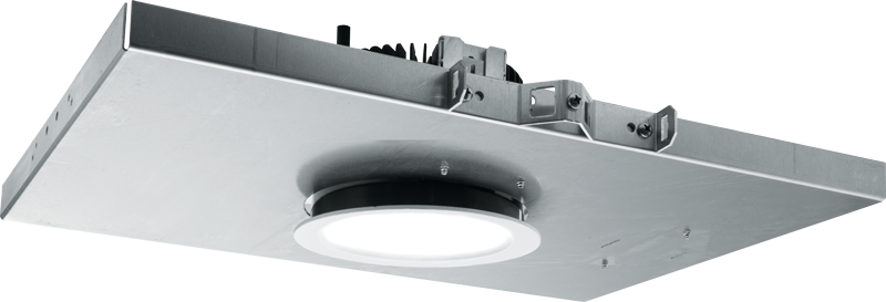 M4PR: Designed with non-ferrous materials for MRI imaging suites, the M4PR features Williams TrimLock™ reflector retention system to eliminate trim sag and an IP65-rated die-cast trim with easy-to-clean flush lens