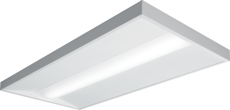 "PTS:  Slim 2-7/16"" depth for low ceiling applications Ribbed diffuse acrylic lens"