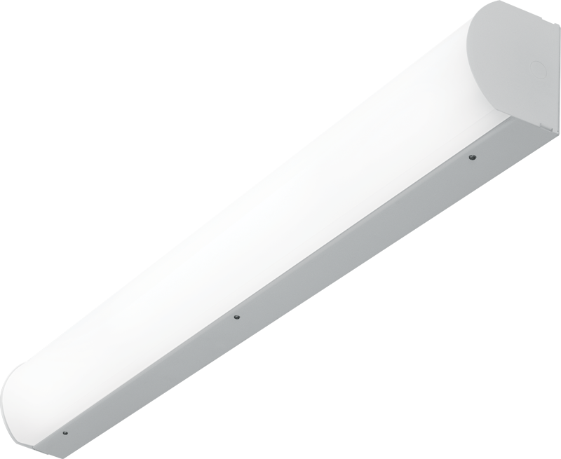 SLF: Attractive source of direct lighting for use in stairwells and hallways. Optional end- or side-mount occupancy sensors provide added energy-efficiency.