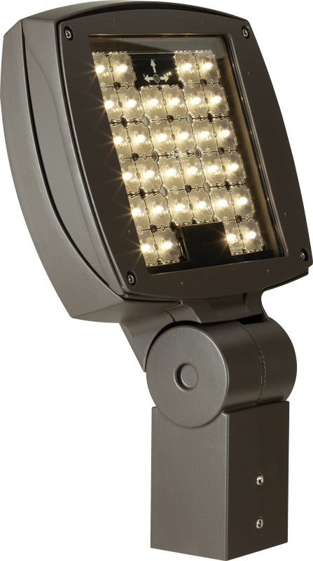 VF2:  Low-profile, contoured design available in 2,000 – 8,800 lumens. Sealed, die-cast housing is rugged and durable.