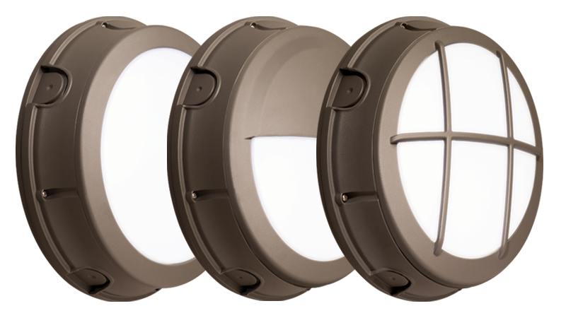 WLRD: Featuring a round profile with three distinct styles, WLRD provides a decorative appearance for effective accent and security lighting.
