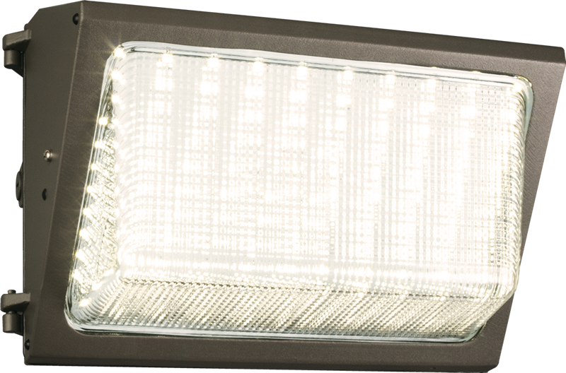 WP1: Available in LED or CFL, the wet location listed WP1 is a medium-sized, shallow-back wall pack is ideal for illuminating entryways, facades, or walkways.
