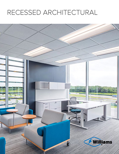 From budget-friendly commercial troffers to feature-rich, specification grade luminaires, the Williams recessed LED line offers a solution to fit your needs while enhancing the architecture of any space.