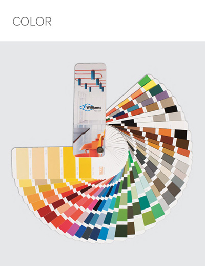Complete guide to Williams color options and our high-quality finishing process.