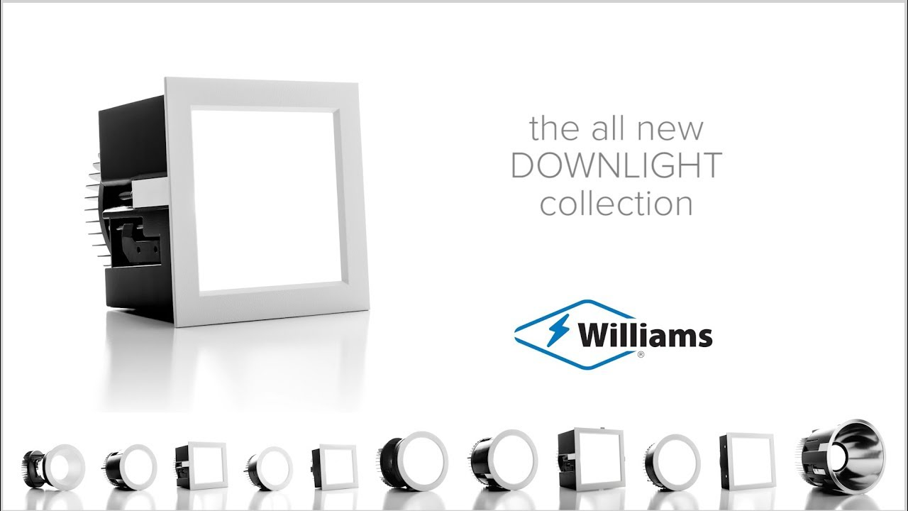 Introducing the all new LED Downlight Collection from Williams, featuring our innovative TrimlockTM reflector retention system.